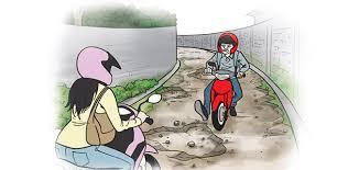 Jalan Desa Tebing Bulang - Baru Jaya Memprihatinkan