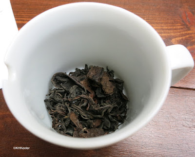 fermented and roasted tea leaves