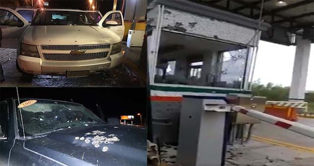 VIDEO; Sicarios llegaron en convoy fuertemente armados para atacar a policías en caseta de Nuevo Progreso, Tamaulipas