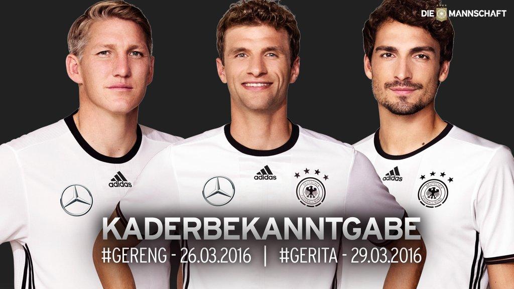 cf49963507 Joachim Löw convocou a seleção alemã para os dois primeiros jogos da equipe  em 2016  amistosos contra Inglaterra