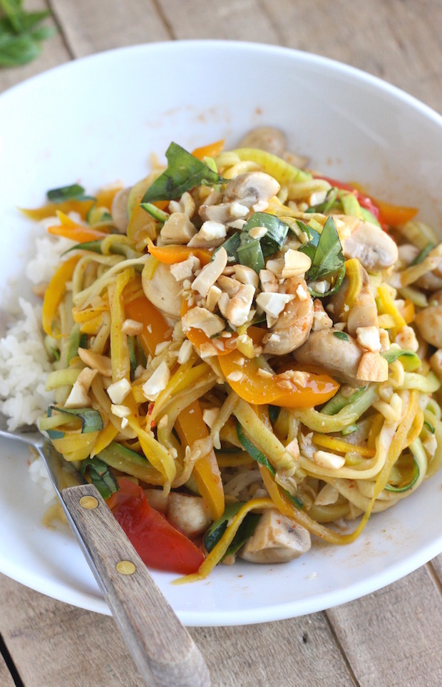 Zucchini Noodle Stir-Fry with recipe by SeasonWithSpice.com
