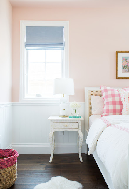 Coral and pink little girl's room by Studio McGee (Cool Chic Style Fashion)