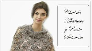 Patrones de chal crochet puntos abanicos y salomón