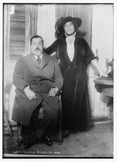 Gatti-Casazza with his first wife, the soprano Frances Alda, in 1921