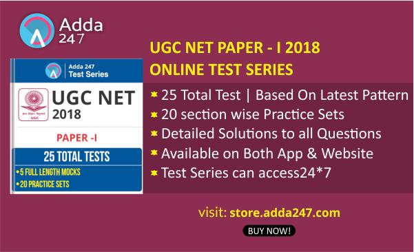 UGC NET Mock Test 2018