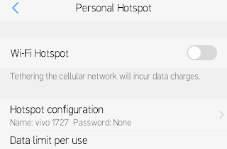 wifi hotspot screen