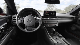 2020 Toyota Supra sports car dashboard interior