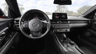 2020 Toyota Supra sports car dashboard interior