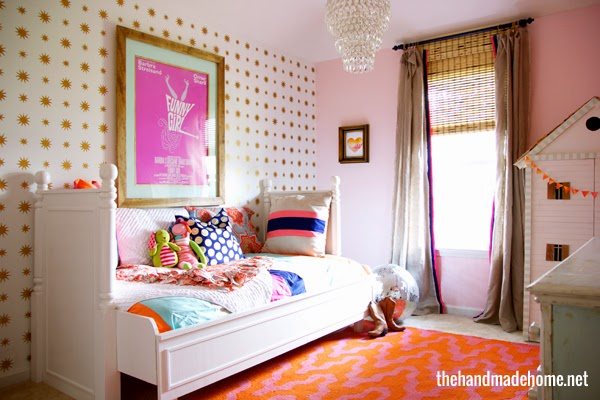 bright and bold girl room