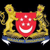 Logo Gambar Lambang Simbol Negara Singapura PNG JPG ukuran 200 px