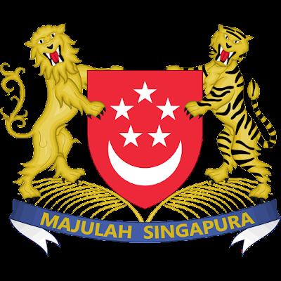 Coat of arms - Flags - Emblem - Logo Gambar Lambang, Simbol, Bendera Negara Singapura
