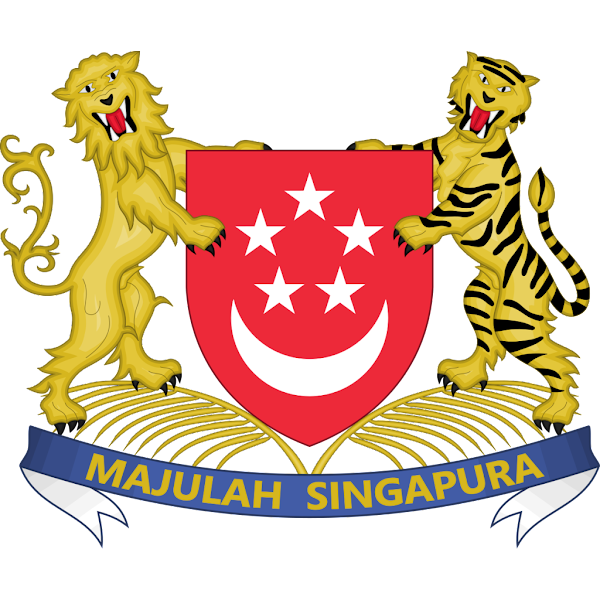 Logo Gambar Lambang Simbol Negara Singapura PNG JPG ukuran 600 px