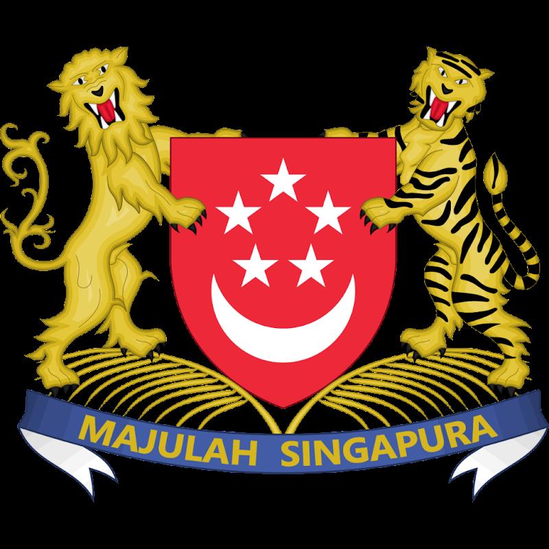 Logo Gambar Lambang Simbol Negara Singapura PNG JPG ukuran 800 px