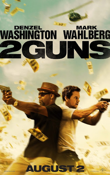 Poster Of 2 Guns 2013 720p Hindi BRRip Dual Audio Full Movie Download
