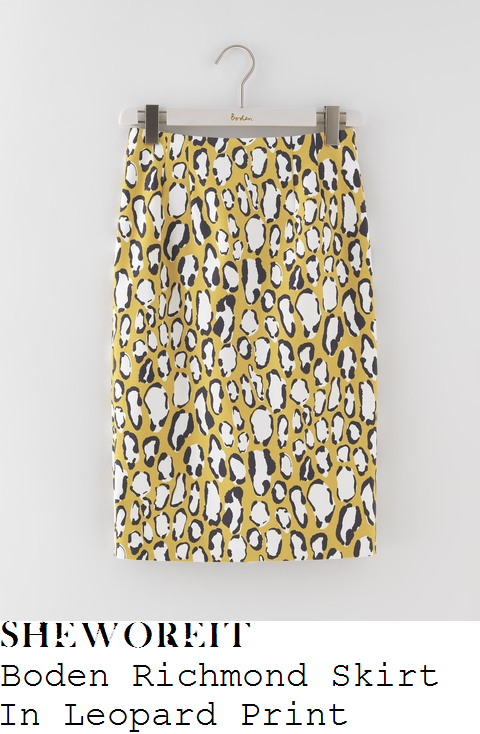 holly-willoughby-boden-richmond-yellow-white-and-black-leopard-print-high-waisted-knee-length-pencil-skirt