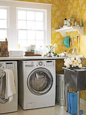 lavanderia decorada pequena