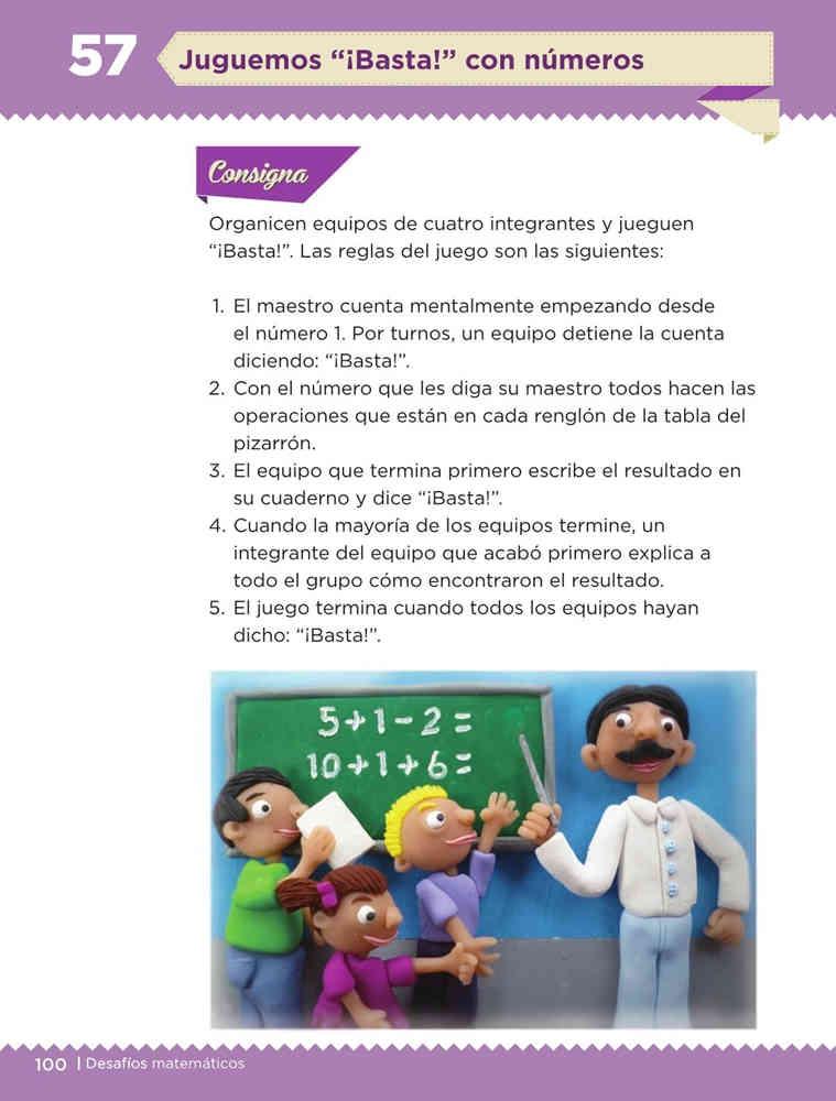Libro de textoDesafíos MatemáticosJuguemos