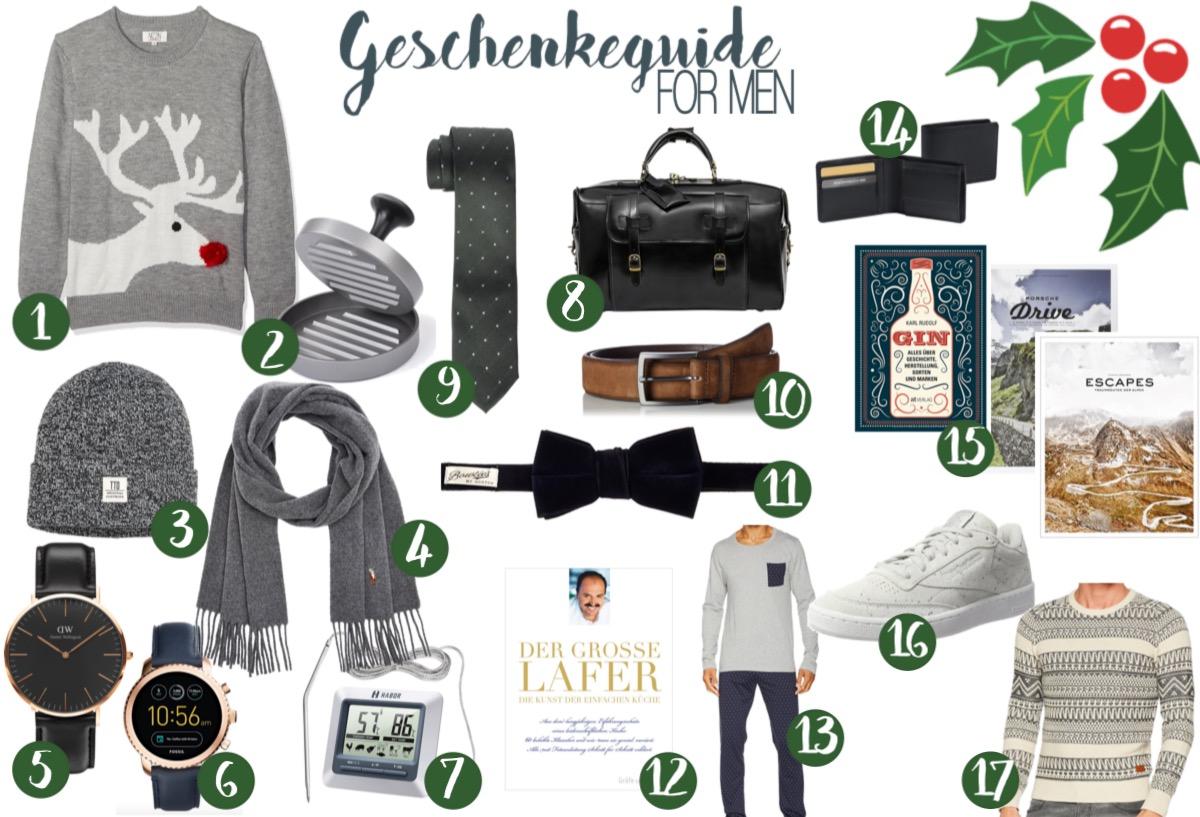 Großer Geschenkeguide für Weihnachtsgeschenke für Männer - was schenke ich meinem Freund oder Vater? www.theblondelion.com