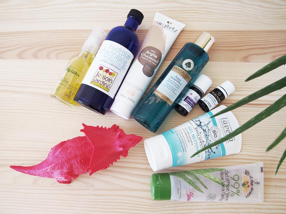 routine soin anti-acné naturelle bio