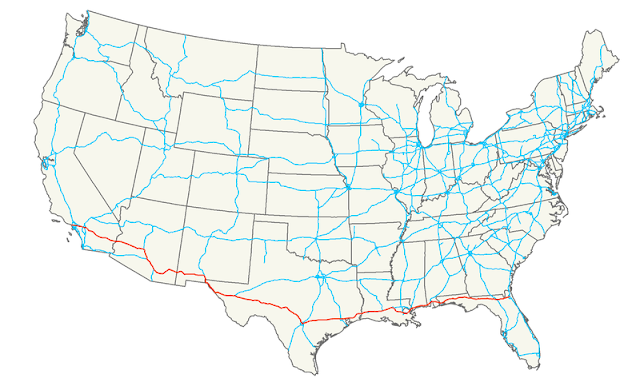 Interstate 10 Map