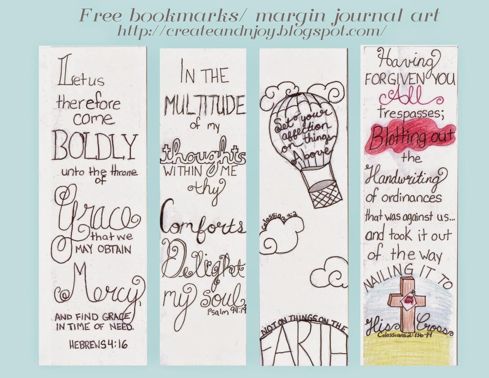Create Amp N Joy Free Bible Journaling Printables
