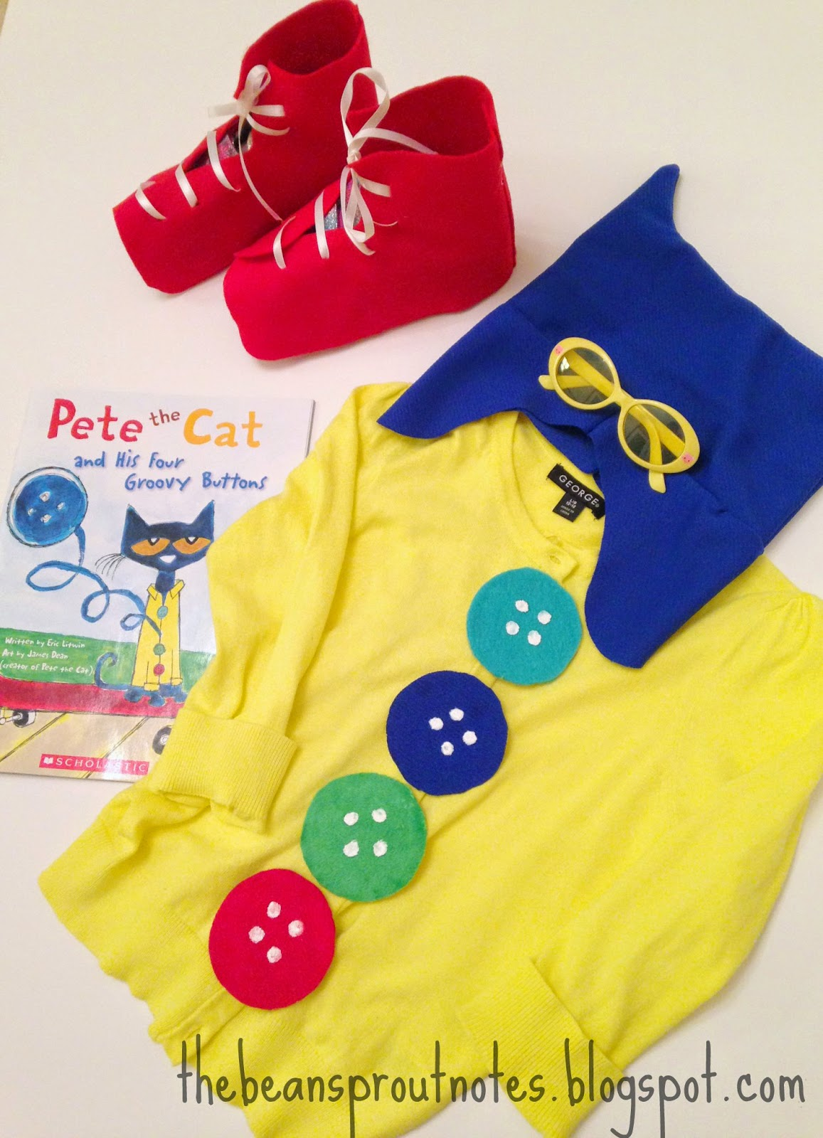 Pete The Cat I Love My White Shoes Costume
