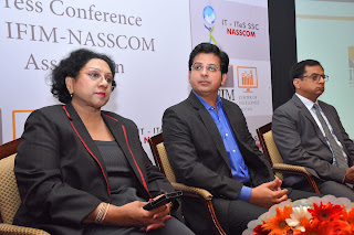 (From L to R) Dr. Sandhya Chintala, VP and Executive Director, NASSCOM_ Mr. Sameer Dhanrajani, Chief Strategy Officer, Fractal Analytics_ Dr. Abhishek Nirjar, Director, IFIM Business School