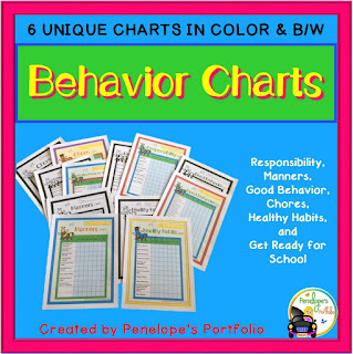 Behavior or Chore Charts for Kids