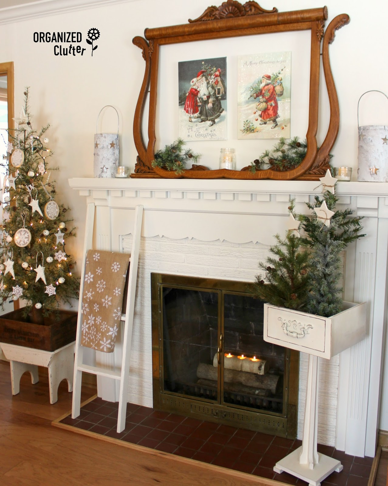 organized clutter 2016 christmas mantel with vintage dresser