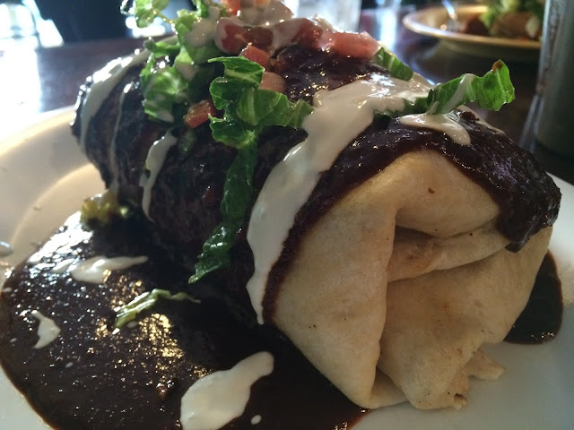 Mole Burrito at El Limon in Wayne, PA