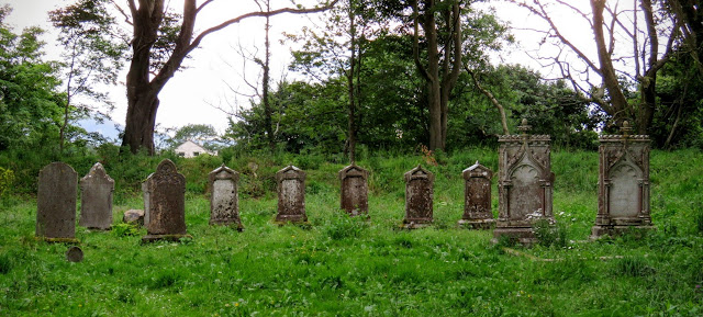 Graveyard at Mount Falcon Estate in County Mayo, Ireland