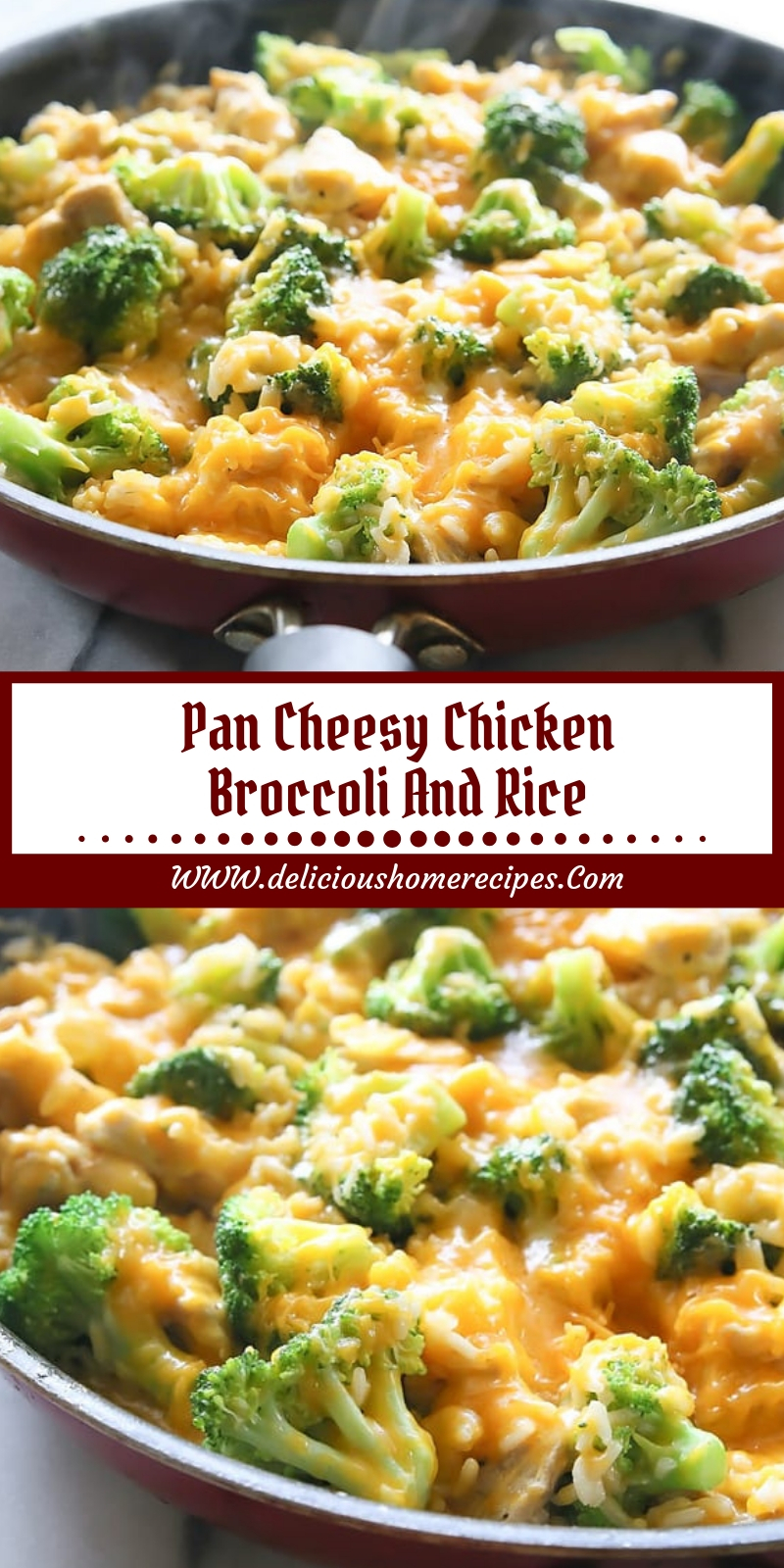 Pan Cheesy Chicken Broccoli And Rice