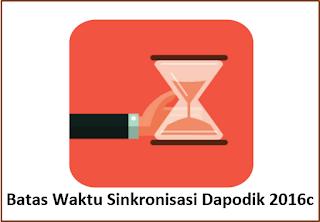 Batas Waktu Sinkronisasi Aplikasi Dapodik 2016c Semester Ganjil Tahun 2016-2017