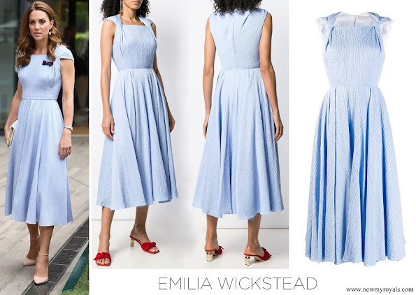 Kate Middleton wore Emilia Wickstead Jordin Dress in Baby Blue