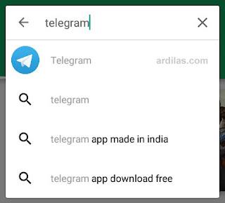 Pencarian Telegram di Playstore - Cara Download Install & Daftar Telegram Untuk Android