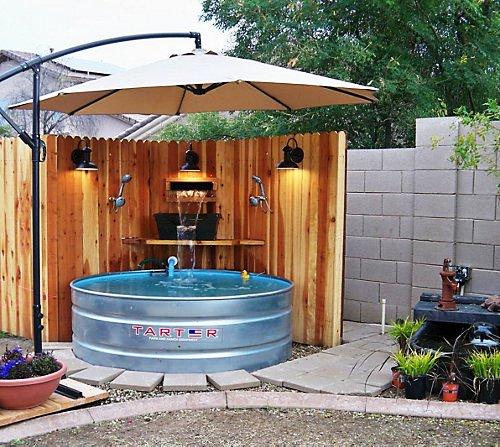 Amazing Galvanized Stock Tank Turned DIY Swimming Pool
