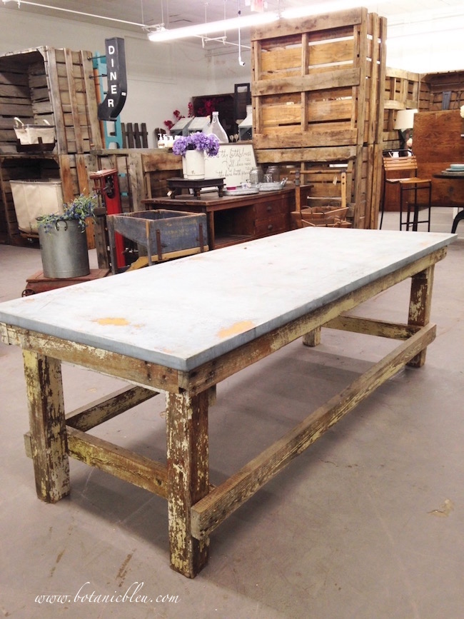 rustic-farmhouse-table-wood-base-zinc-top