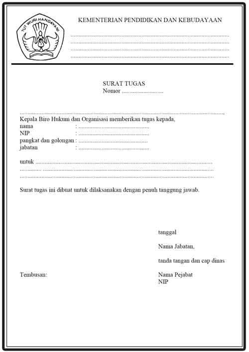 Aturan Pembuatan Surat Tugas Di Lingkungan Kemdikbud Ri Al