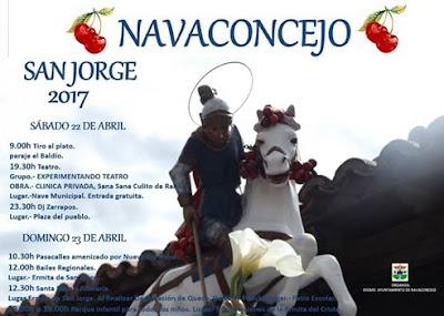 Cartel Oficial San Jorge 2017, Navaconcejo.