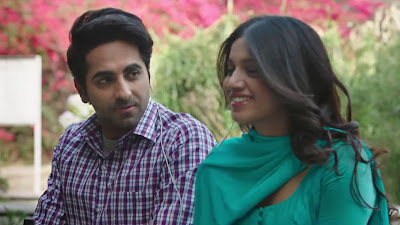 Lovely Couple HD Image Of Bhumi Pednekar & Ayushmann Khurrana