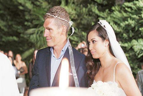 Εικόνες από τον γάμο του Σπύρου Γιαννιώτη με την πανέμορφη σύζυγό του