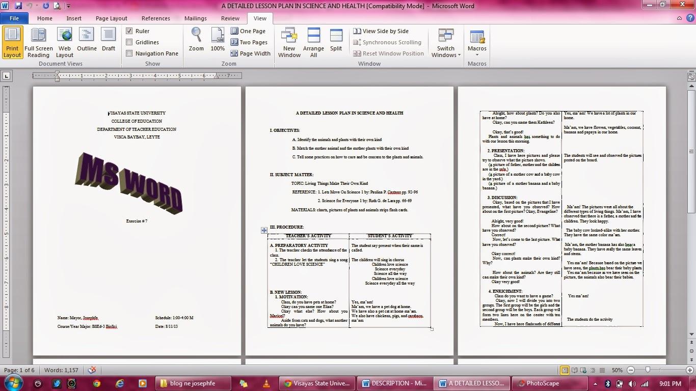 e portfolio in educational technology 2 exercise 7 ms word