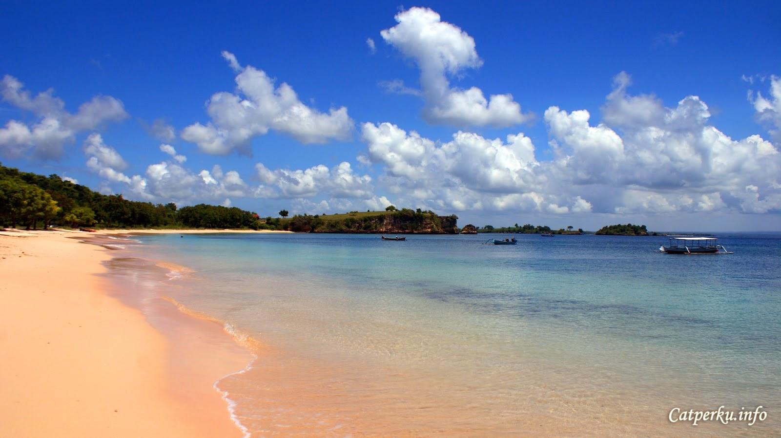Keindahan Pasir Pantai Pink Lombok