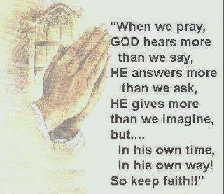 Do not ignore the importance of prayer