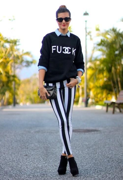 2ba18458b Gosto Disto!  Como usar calça listrada - How to wear striped pants