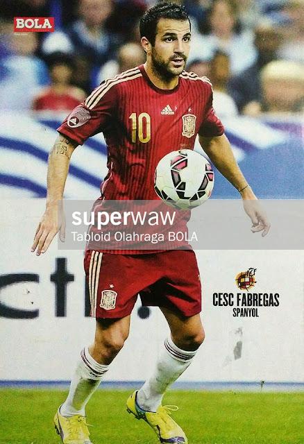 Cesc Fabregas Spain 2014