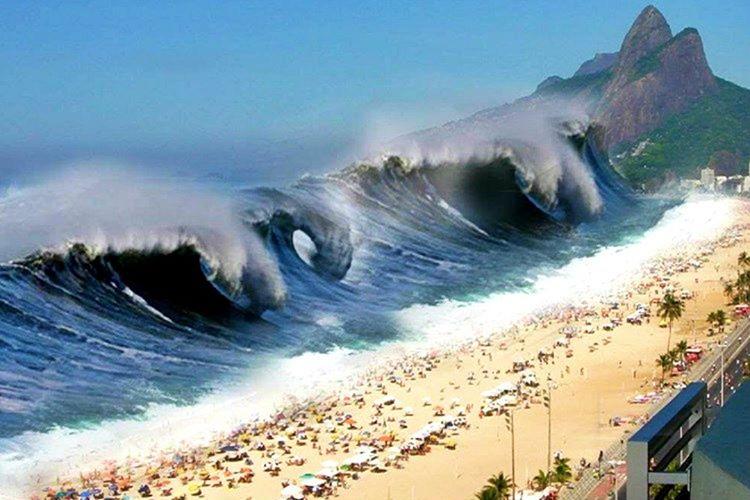 9 büyüklüğündeki bir deprem Japonya'nın kıyısında devasa bir tsunami yarattı.