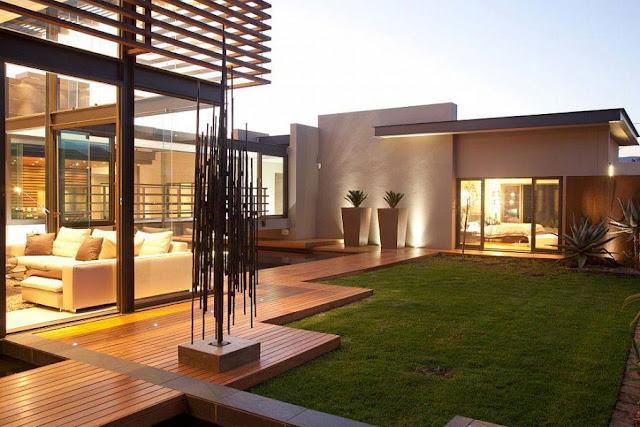Contoh desain taman minimalis tropis cantik