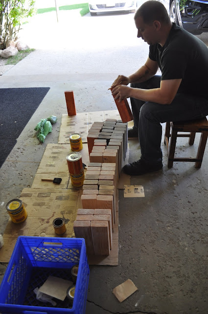 jenga, stain, diy, patio, games, friends, outdoor, polyurethane, fun, summer time, summertime