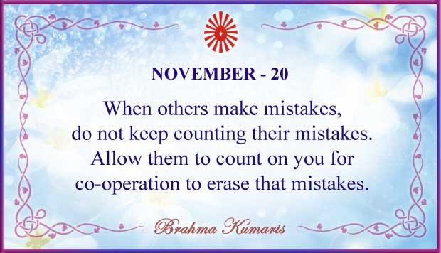 Thought For The Day November 20